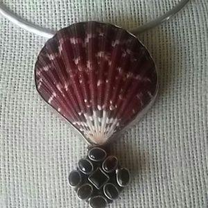 Jewelry - GENUINE GARNET 925 SYERLING NECKLACE NWOT